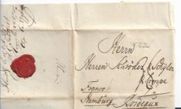 Sch011 / Flensburg 15.10.1778 Via Reichspostanstalt Hamburg Nach Bordeaux. Voller Textinhalt - Schleswig-Holstein