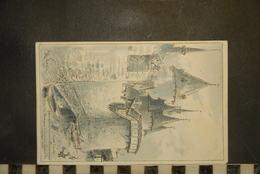 CP, Illustrateur ROBIDA,  Avant La Sortie, Jeanne D'Arc & Le Gouverneur Flavy Au Rempart...Compiègne 1430 - Robida