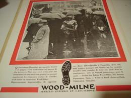 ANCIENNE PUBLICITE SEMELLE TALON WOOD MILNE VIVRE SEULE  1932 - Habits & Linge D'époque