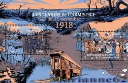 France 2018 BF Salon Automne Centenaire De L'armistice Du 11 Novembre 1918 WW1 - 2v MNH / Neuf - Blocs & Feuillets