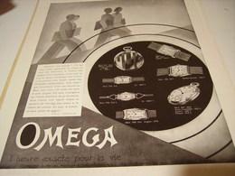 ANCIENNE PUBLICITE HEURE EXACTE  MONTRE OMEGA 1932 - Jewels & Clocks