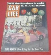 Rare Revue Vintage Automobile Américaine Car Life Janvier 1955 De Soto Pontiac Chrysler Dodge Ppymouth - Livres, BD, Revues