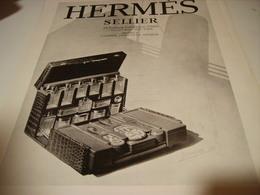 ANCIENNE PUBLICITE SELLIER HERMES 1930 - Equitation