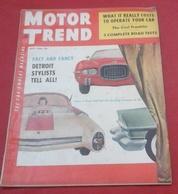 Rare Revue Vintage Automobile Américaine Motor Trend Juillet 1954 Cadillac, Ford Six, Sebring,Franklin,Porsche,Rolls - Autres