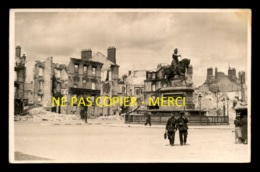 45 - ORLEANS - DESTRUCTIONS  EN 1940 - BANQUE COMPTOIR NATIONAL D'ESCOMPTE DE PARIS - CARTE PHOTO ORIGINALE - Orleans
