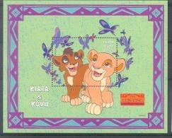 Nct054 WALT DISNEY LION KING KAT LEEUW VLINDERS BUTTERFLIES PAPILLONS MARIPOSAS LIONS WILD CAT SIERRA LEONE 1998 PF/MNH# - Disney