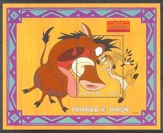 Nct053 WALT DISNEY LION KING ZOOGDIEREN WILD ZWIJN PUMBAA & TIMON WILD PIG MAMMALS SIERRA LEONE 1998 PF/MNH - Disney