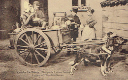 Ancienne CPA Knocke Le Zoute Groupe De Laitiers Flamands A Group Of Flemish Milk-men (1928) - Knokke