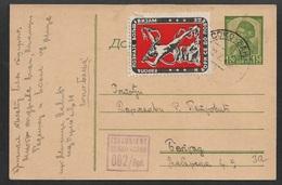 13045 - Dt. Bes. 2. WK, Serbien, Ganzsache Mi.  P5 Mit Zensur-Stempel U Vignette. - Besetzungen 1938-45