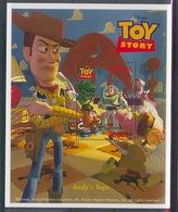 Nct522 WALT DISNEY TOY STORY 5 ANDY'S TOYS VARKEN DINOSAURUS PAARD HORSE PIG COWBOY UGANDA 1997 PF/MNH - Disney
