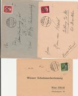2 Bedarfsbriefe, 1 Karte Mit Klecksstempel - 1945-60 Briefe U. Dokumente