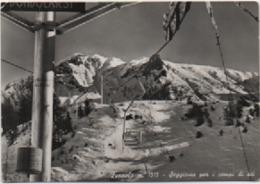 Foppolo (Bergamo): Seggiovia Per I Campi Di Sci. Viaggiata 1954 - Bergamo