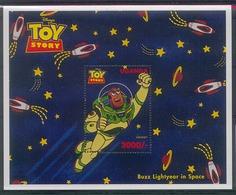 Nct523 WALT DISNEY TOY STORY 6 RUIMTEVAART SPACE ROCKET UGANDA 1997 PF/MNH - Disney