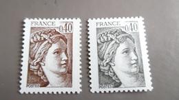 N° 2118 Neuf** Variété Couleur Brun Noir Au Lieu De Brun - Autres