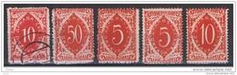 JUGOSLAVIA:  1919  CIFRE  -  5  VAL. L./US. -  YV/TELL. 23//30 - Portomarken