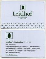 Italien Hotelkarte Keycard Aus Innichen In Südtirol - Hotelkarten