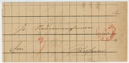 """CARLSRUHE I. BADEN"" F-Stempel Rot 1873 - Inhalt - Germany"