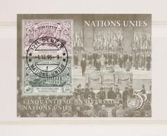NATIONS UNIES (Genève) 1995:  Bloc-feuillet  Oblitéré - Genf - Büro Der Vereinten Nationen