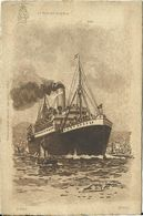 AK Schiff Fürst Bismarck Hamburg-Amerika-Linie W. Stöwer Bütten ~1910 #156 - Steamers