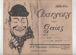 Chansons Gaies Pour Rire En Société M R. Rousseaux 1942 - Partitions Musicales Anciennes