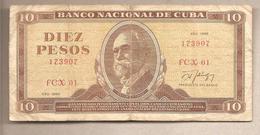 Cuba - Banconota Circolata Da 10 Pesos P-104c - 1986 - Cuba
