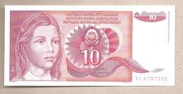 Jugoslavia - Banconota Non Circolata FdS Da 10 Dinari P-103a - 1990 - Jugoslavia
