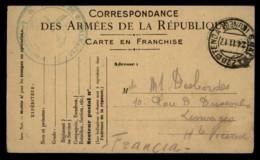 Carte En Franchsie Correspondance Des Armées #02238 - Autres