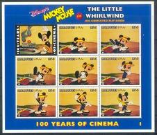 MylA309c WALT DISNEY MICKEY MOUSE THE LITTLE WHIRLWIND CINEMA FILM KINO ANIMATED FLIP BOOK MALDIVES 1996 PF/MNH # - Disney