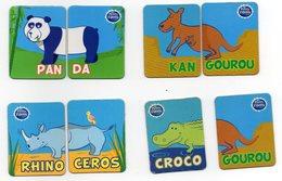 3 MAGNETS   PETITS FILOUS   RHINOCEROS  PANDA  KANGOUROU - Animaux & Faune