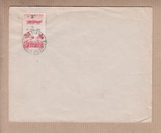 6eme Anniv De L'appel Du General De GAULLE 1944 Surcharge + 5f S 5f Chamois  SEUL Sur LETTRE De CASABLANCA Le 18 6 1946 - Marokko (1891-1956)