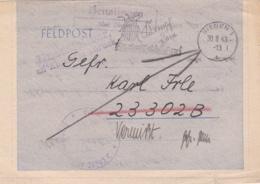 German Feldpost WW2: MIA In Action Posted To Grenadier-Regiment 81 (5./II) FP 23302B But Returned P/m Siegen - Militaria