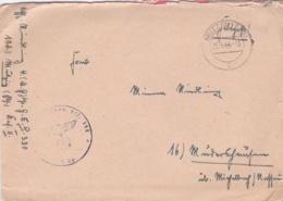 German Feldpost WW2: Grenadier Ersatz Bataillon 390 In Mutzig P/m Mutzig 25.8.1944 - Letter Inside  (DD6-47) - Militaria