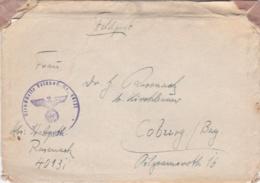 German Feldpost WW2: Stab Kriegslazarett-Abteilung 606  FP 40131 W/o Postmark But Letter Inside Is Signed 24.10.1943 - Militaria