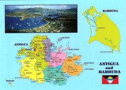 1 MAP Of Antigua And Barbuda * Im Kleinen Bild English Harbour Mit Nelson's Dockyard - Seit 2016 UNESCO Weltkulturerbe * - Maps