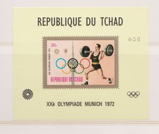 J.O. De Munich 1972  Le Bloc-feuillet 'Haltérophilie' Du Tchad,  Neuf** - Sommer 1972: München