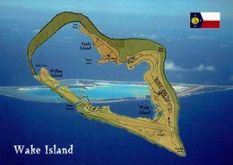 1 Map Of Wake Island * 1 Ansichtskarte Mit Der Landkarte Von Wake Island * Ein Außengebiet Der USA Im Pazifik * - Maps