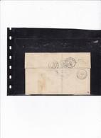 France, Poste Ferroviaire - Cachet D'essai Paris Au Havre F Au Verso D'une LSC De Brionne (Eure) Du 21/7/1865 - Ind. 20 - Storia Postale