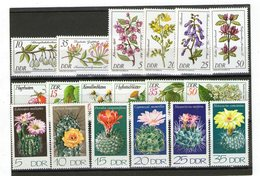 Lot Pflanzen (DDR) ** - Stamps