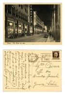 TORINO VIA ROMA DI NOTTE- AUTOMOBILI- VIAGGIATA 1943 (2/45) - Autres