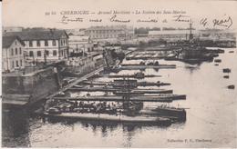 Manche :  CHERBOURG : Arsenal  Maritime ,  Bateau  Sous  Marins , écrite à Querqueville - Cherbourg