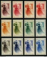 FRANCE - YT V19 - VIGNETTES CITEX 1949 ** - SERIE COMPLETE DES 12 COULEURS - Erinnofilia