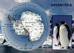 1 Map Of Antarctica * 1 Ansichtskarte Mit Der Landkarte Von Der Anarktis * - Maps