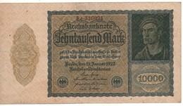 GERMANY  10'000 Mark  P72/R69    Dated 19.1.1922   XF - [ 3] 1918-1933: Weimarrepubliek