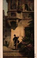 """""""Der Briefbote"""", Nach Einem Gemäde Von Carl Spitzweg, Um 1910/20 - Künstlerkarten"""