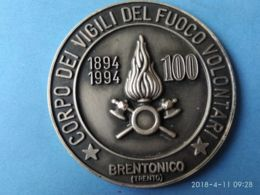 Centenario Corpo Vigili Del Fuoco Volontari Brentonico 1994 - Firemen