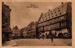 Hanau, Altstädter Rathaus Mit Verschiedenen Geschäften, 1926 - Hanau