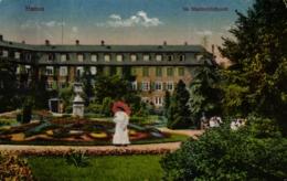Hanau, Im Stadtschloßpark, Feldpost 1918 - Hanau