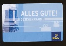 GERMANY Geschenkkarte Tchibo - Alles Gute - Siehe Scan - 10716 - Deutschland