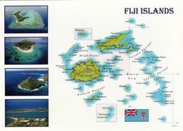 1 MAP Of Fiji Islands * 1 Ansichtskarte Mit Der Landkarte Der Fidschi Inseln * - Maps