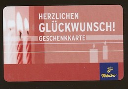 GERMANY Geschenkkarte Tchibo - Herzlichen Glückwunsch - Siehe Scan - 10718 - Deutschland